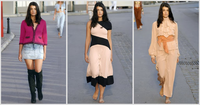 Crystal Renn Walks for the Chanel Cruise Collection