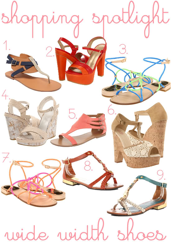 Shopping Spotlight: Wide Width Summer Sandals