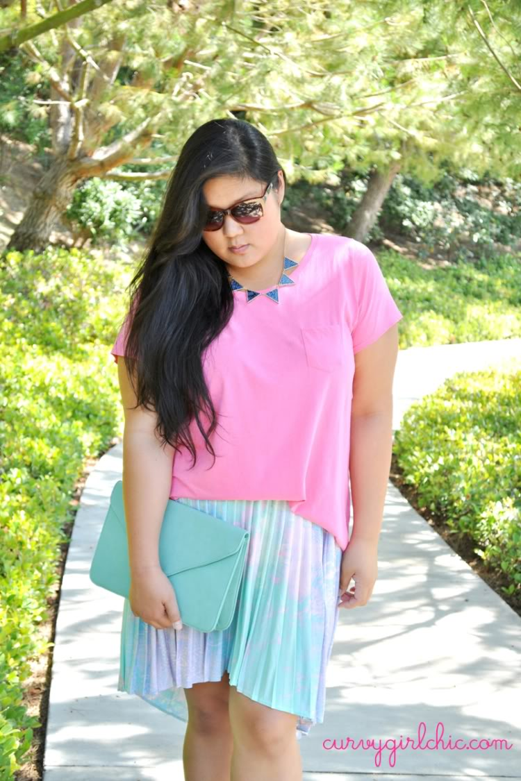 Curvy Girl Chic - Plus Size Fashion Blog: hello high-lo plus size outfit of the day