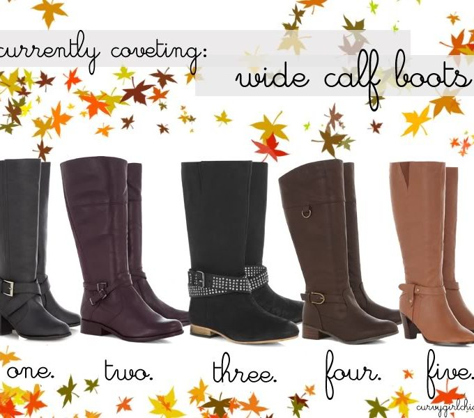 currently coveting: plus size & wide calf boots