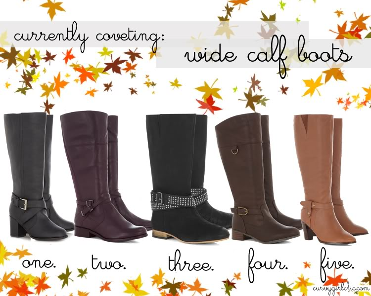 Curvy Girl Chic Plus Size Fashion Blog: Currently Coveting Wide Calf Boots