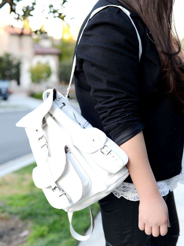 Curvy Girl Chic Plus Size Fashion Blog OOTD Grafea Backpack