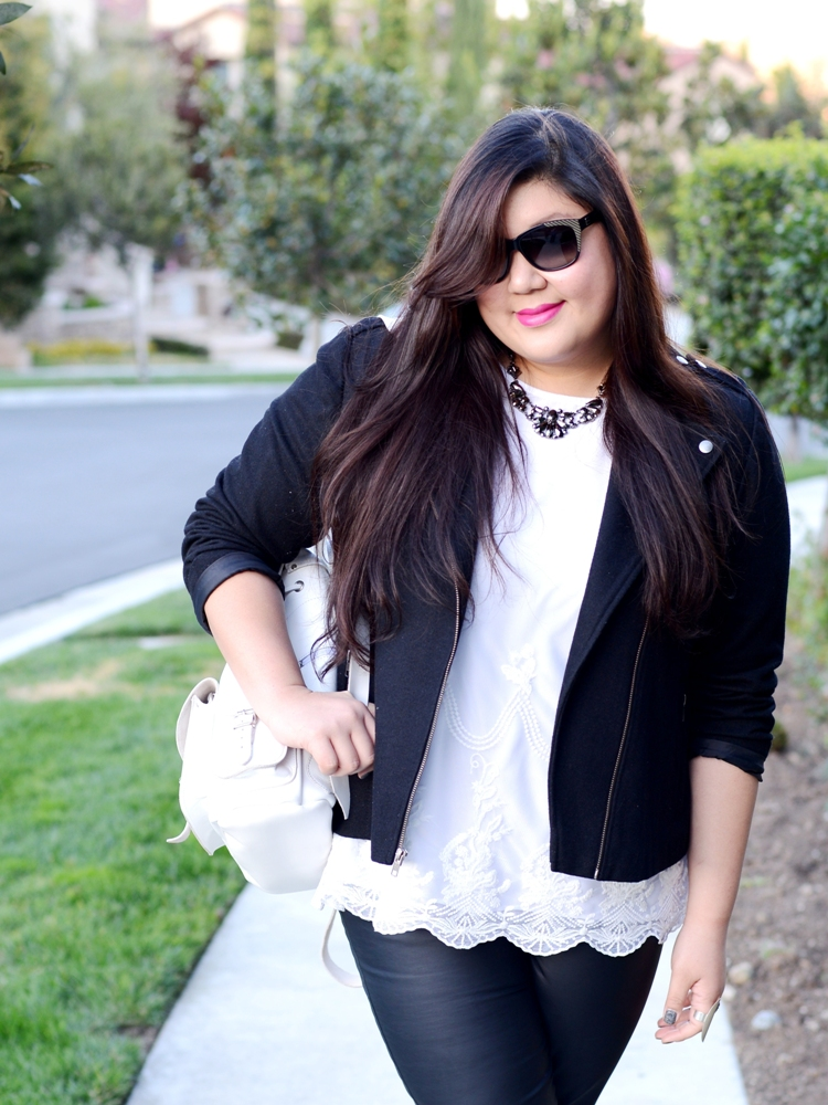 Curvy Girl Chic Plus Size Fashion Blog OOTD Black and White