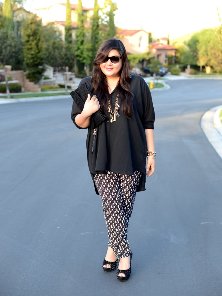 Curvy Girl Chic Plus Size Fashion Blog Duro Olowu for JCPenney Printed Pants