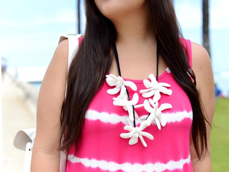 Curvy Girl Chic Plus Size Fashion Blog Marni x H&M Flower Necklace