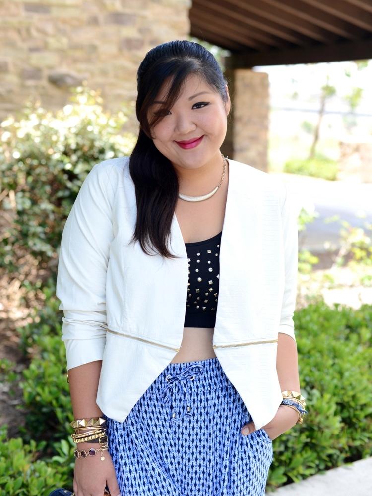 Curvy Girl Chic Plus Size Fashion Blog MYNT1792 Chelsea Jacket Look