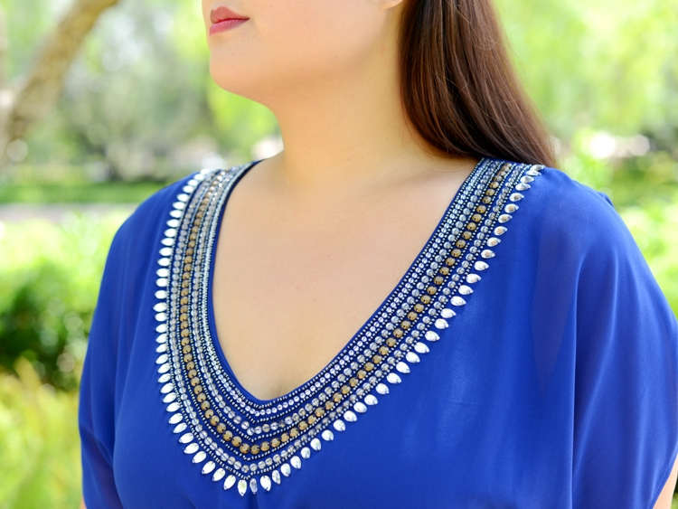 Curvy Girl Chic Plus Size Fashion Blog Scarlett and Jo Embellished Dress