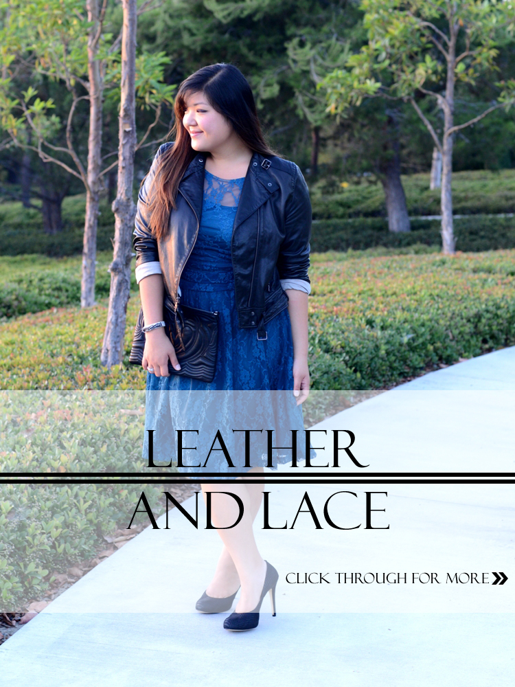 Curvy Girl Chic Plus Size Fashion Blog - Leather and Lace Outfit