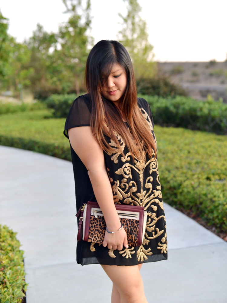 Curvy Girl Chic Plus Size Outfit Blog Fall Forward Simply Be Luxe Sequinned Tunic