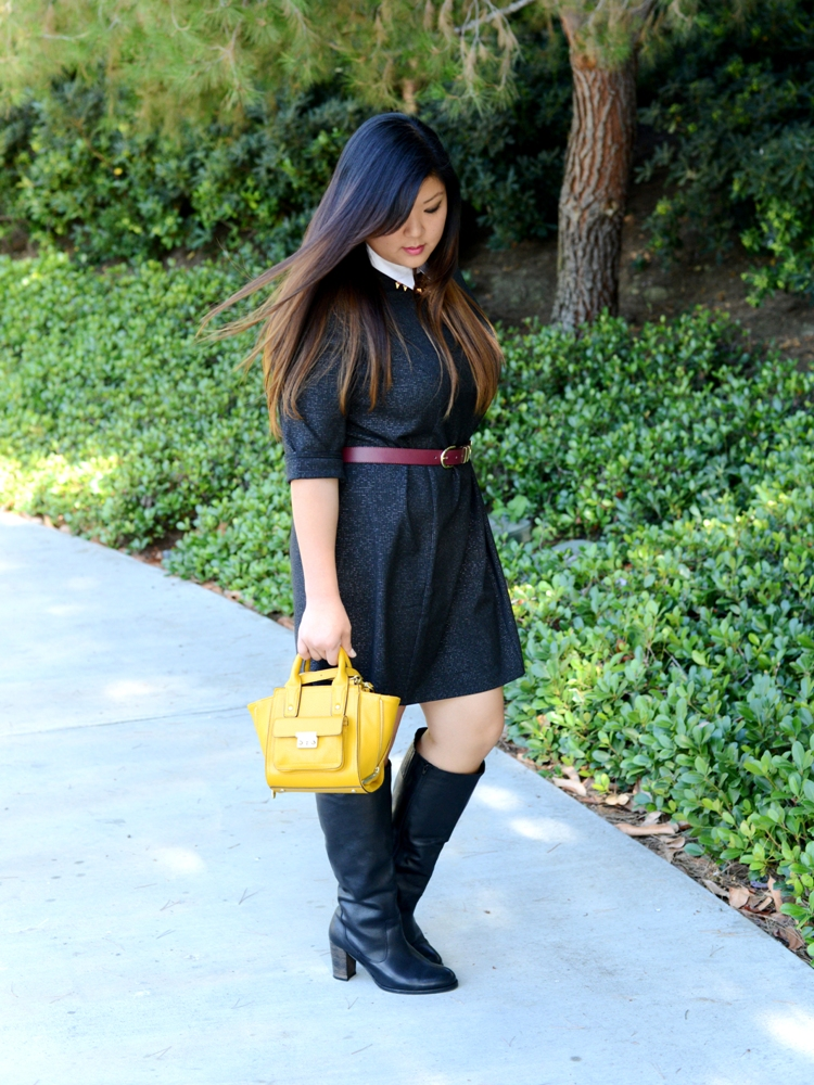 Curvy Girl Chic Plus Size Fashion Blog Simply Be Dress Phillip Lim for Target Bag