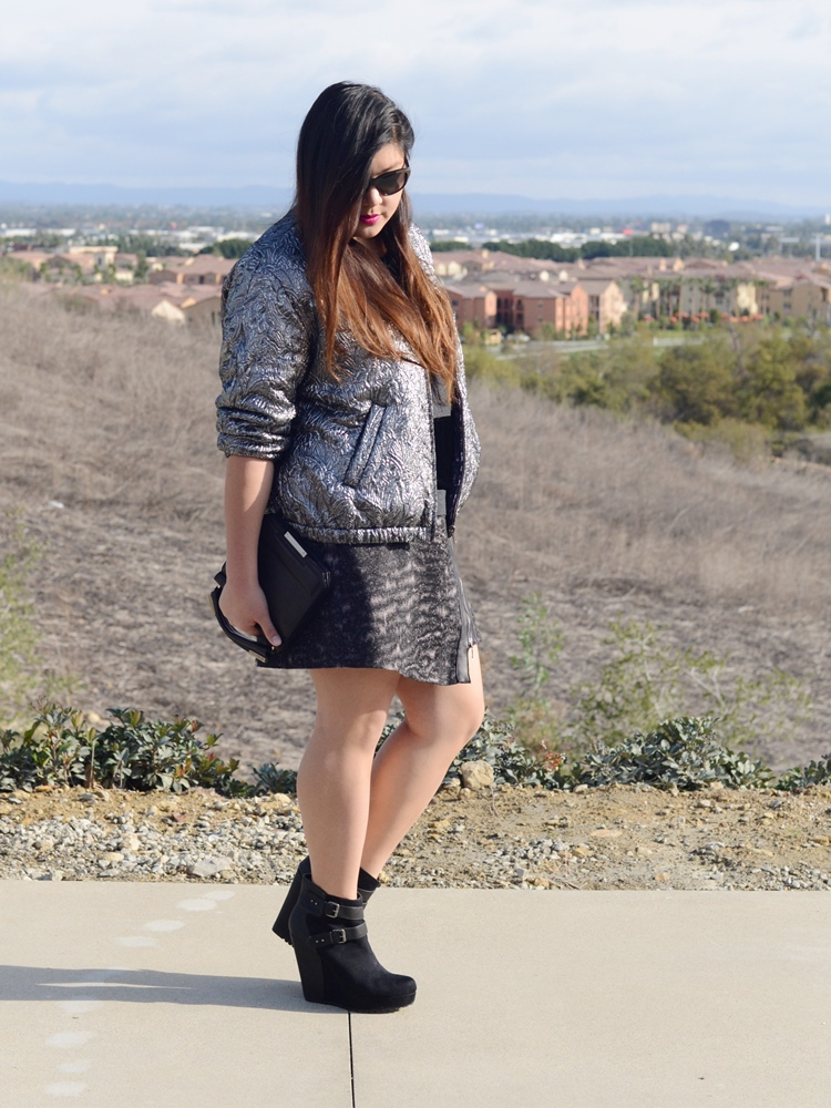 Curvy Girl Chic Plus Size Fashion Blog Isabel Marant pour H&M Jacket and Simply Be Skirt