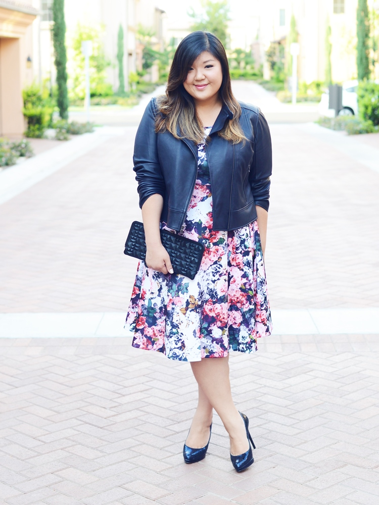 Curvy Girl Chic Plus Size Fashion Blog Fall Florals Eloquii Dress