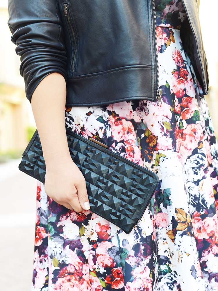 Curvy Girl Chic Plus Size Fashion Blog Fall Florals Eloquii Dress Kenneth Cole Clutch