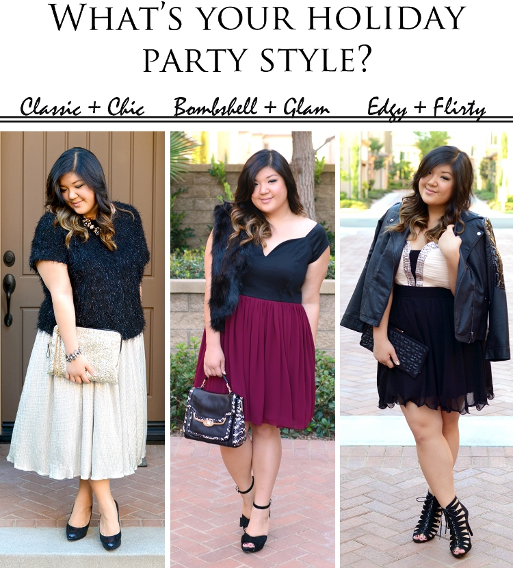 PARTY TIME! 3 HOLIDAY PARTY OUTFIT IDEAS - Curvy Girl Chic