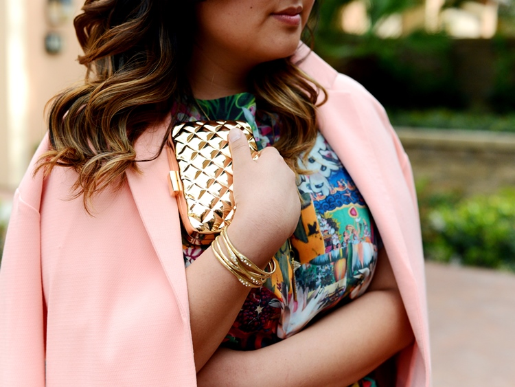 Curvy Girl Chic Plus Size Fashion Blog Spring Outfit Idea Simply Be Duster Coat and Issa London Dress