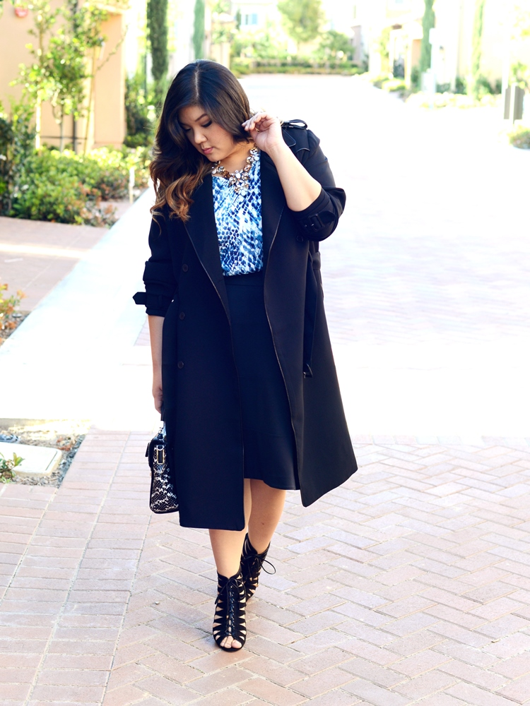 Curvy Girl Chic Plus Size Fashion Blog MYNT1792 trench coat Spring 2015 Collection