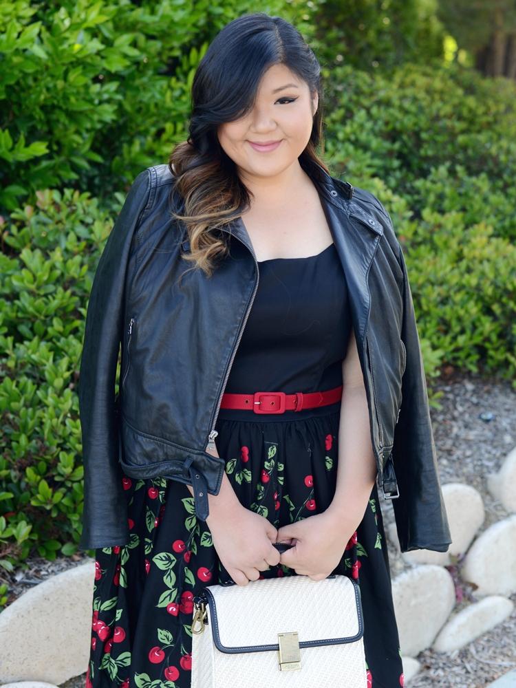 Curvy Girl Chic Plus Size Fashion Blog Pinup Girl Clothing Cherry Midi Dress