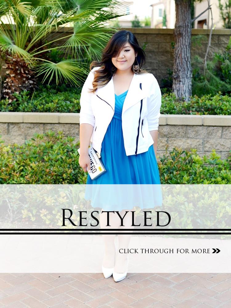 Curvy Girl Chic Plus Size Fashion Blog Davids Bridal Bridesmaid Dress Restyled.jpg