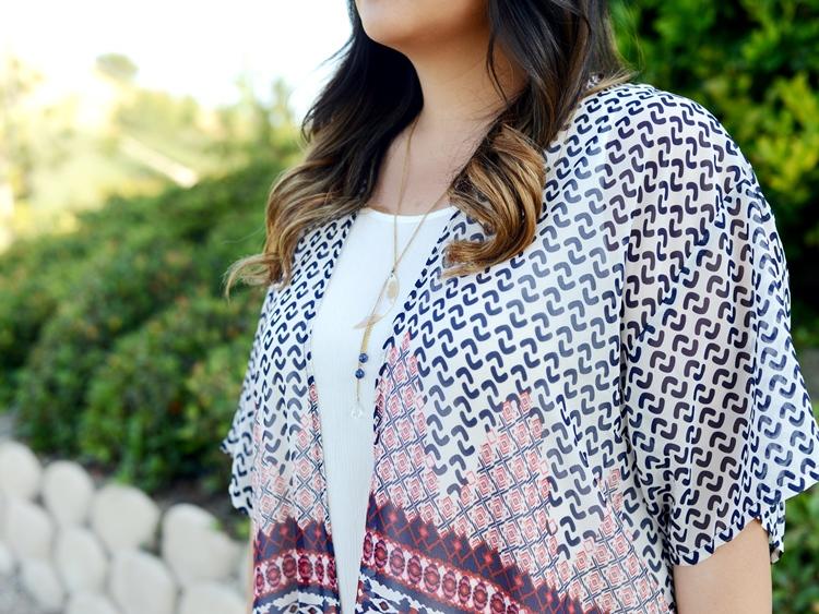 Curvy Girl Chic Plus Size Fashion Blog Fringe Kimono Outfit