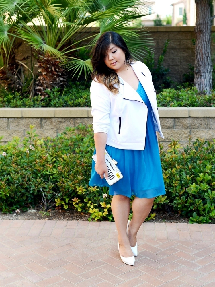 Curvy Girl Chic Plus Size Fashion Blog Bridesmaid Dress Restyled