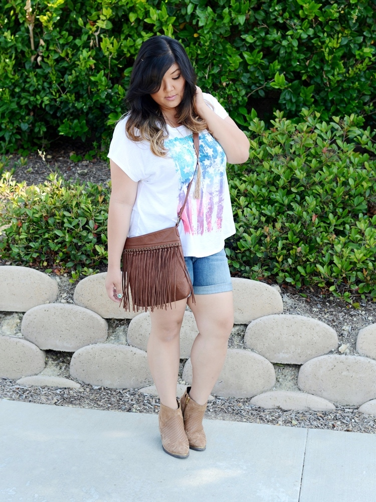 Curvy Girl Chic Plus Size Fashion Blog Americana Fourth of July Outfit