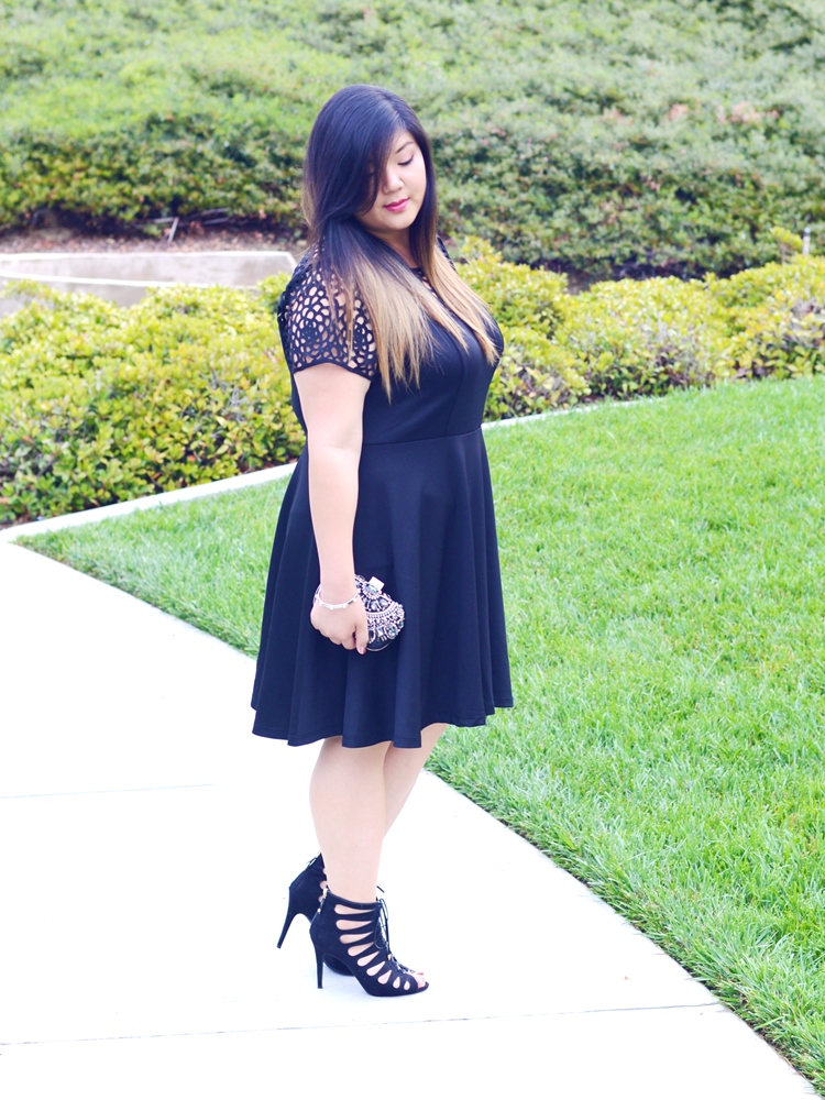 Curvy Girl Chic Plus Size Fashion Blog Charlotte Russe Relaunch LBD