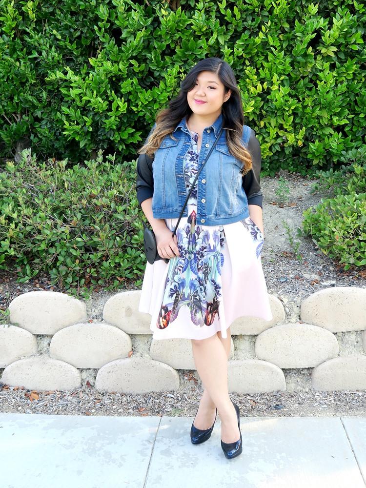 Curvy Girl Chic Plus Size Fashion Blog Corey Lynn Calter Dress Plus Gwynnie Bee Cat Bag