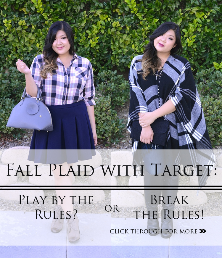 Fall Plaid with Target: Play by the Rules or Break the Rules