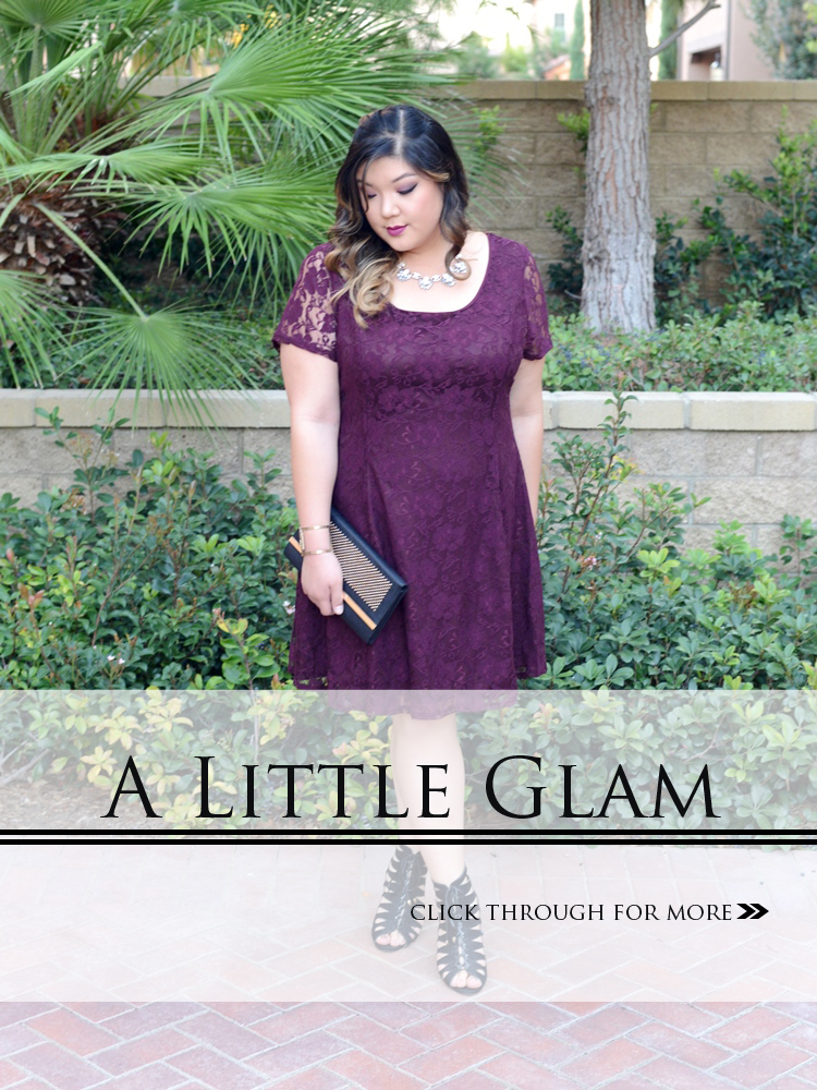 Curvy Girl Chic Plus Size Fashion Blog Charlotte Russe Plus Holiday Outfit