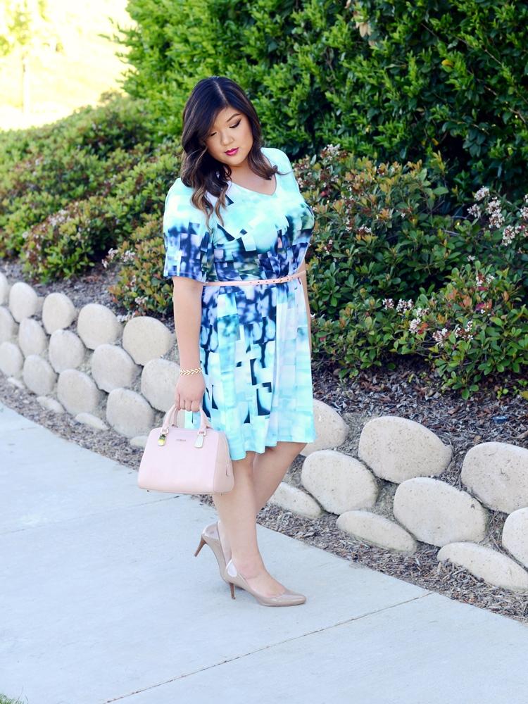 Curvy Girl Chic Plus Size Fashion Blog Neiman Marcus Last Call Pantone 2016 Colors Serenity and Rose Quartz