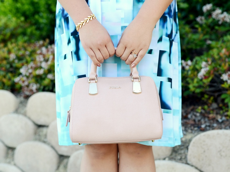 Curvy Girl Chic Plus Size Fashion Blog Neiman Marcus Last Call Furla Pink Satchel Bag
