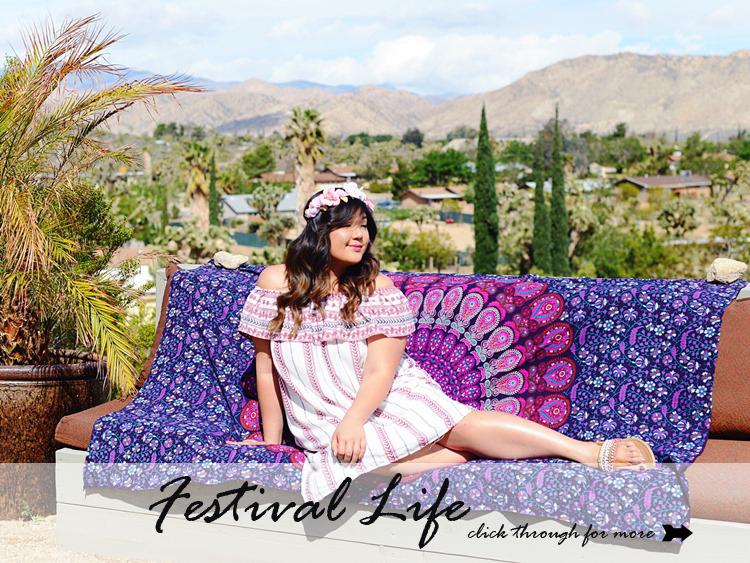 Curvy Girl Chic Plus Size Fashion Blog Coachella Festival Fashion Lookbook
