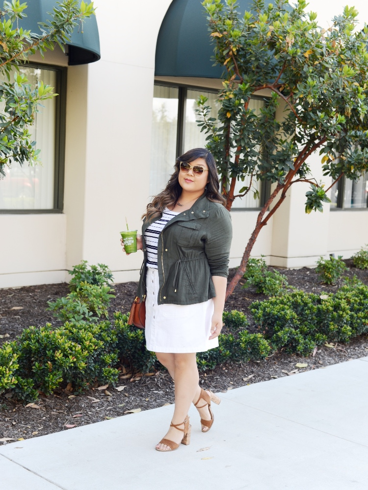 Curvy Girl Chic Plus Size Fashion Blog Allison Teng Old Navy Never Basic Tees Outfit