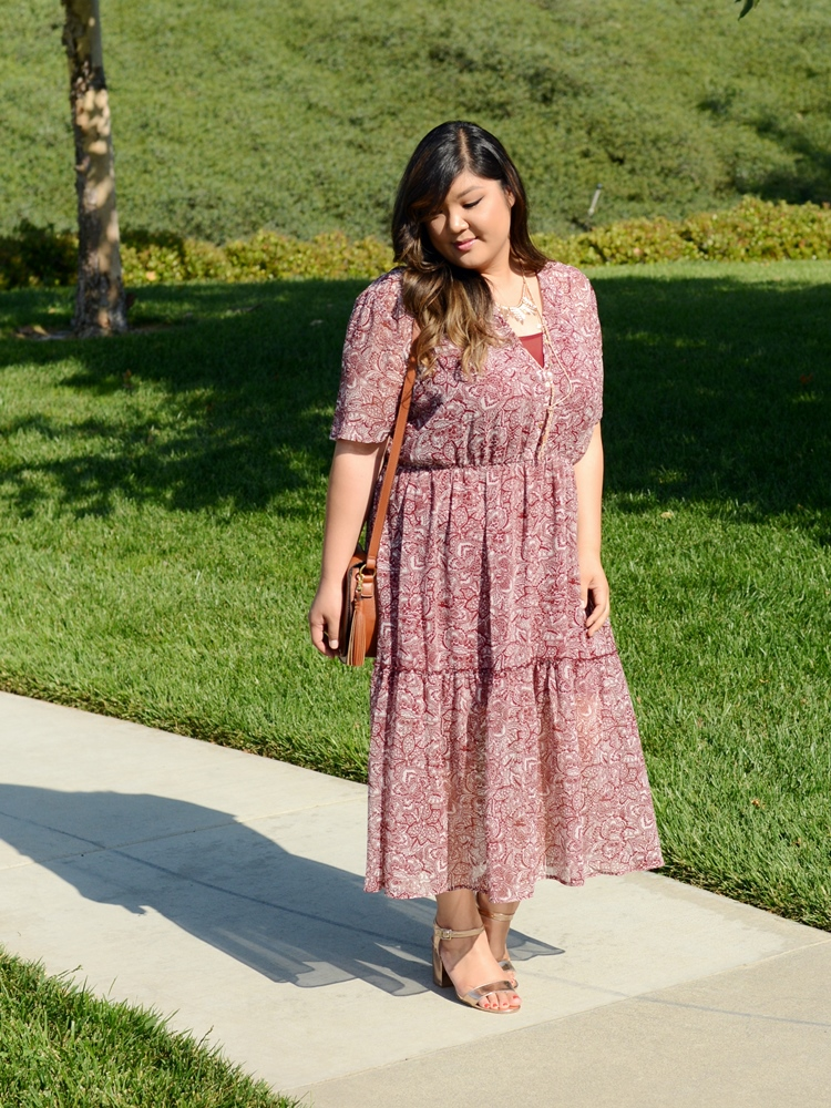 Curvy Girl Chic Plus Size Fashion Blog Who What Wear at Target Plus Size Prairie Dress