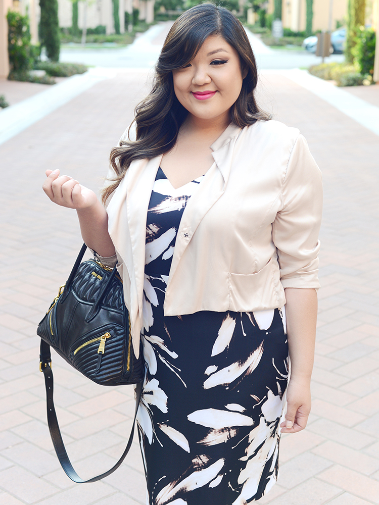 Curvy Girl Chic Plus Size Fashion Blog Ashley Graha Dressbarn Collection Dress