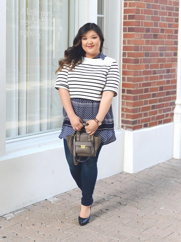 Curvy Girl Chic Plus Size Fashion Blog Plus Size Crop Top Outfit Idea