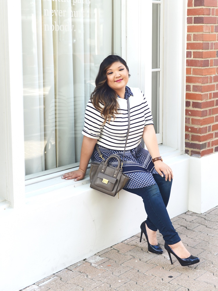 Curvy Girl Chic Plus Size Fashion Blog Plus Size Crop Top Outfit Idea