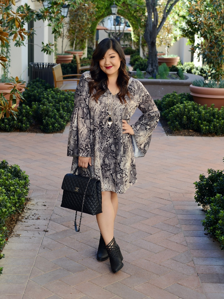 Curvy Girl Chic Plus Size Fashion Blog Elvi Clothing Dress and Coat Outfit