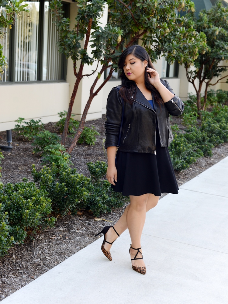 photo Fit for Me Tank Leather Jacket Skater Skirt Look.jpg