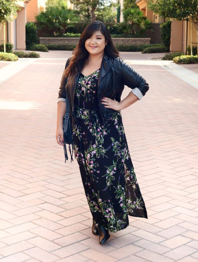 #OOTDOctober 3: PLUS SIZE FLORALS AND LEATHER