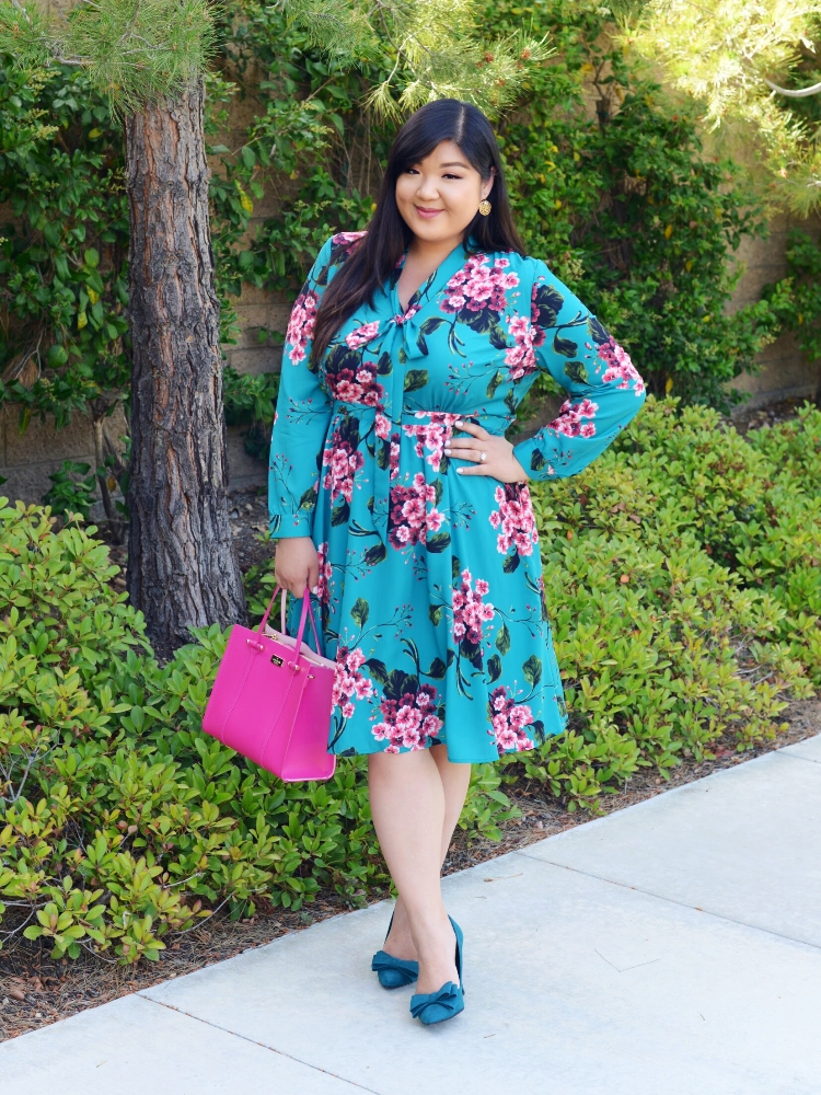 Ootdoctober 4 Flirty Florals With Eloquii Curvy Girl Chic