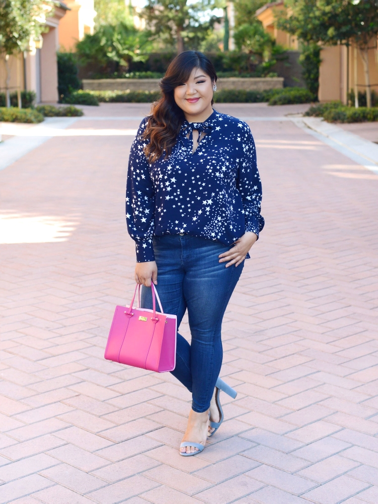 Curvy Girl Chic Just Fab Lovely in LA Plus Size Star Top