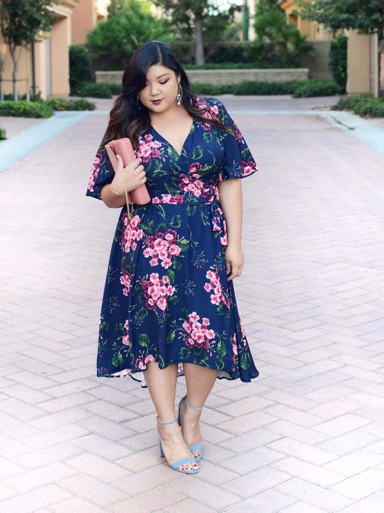 Curvy Girl Chic Plus Size ELOQUII Floral Wrap Dress