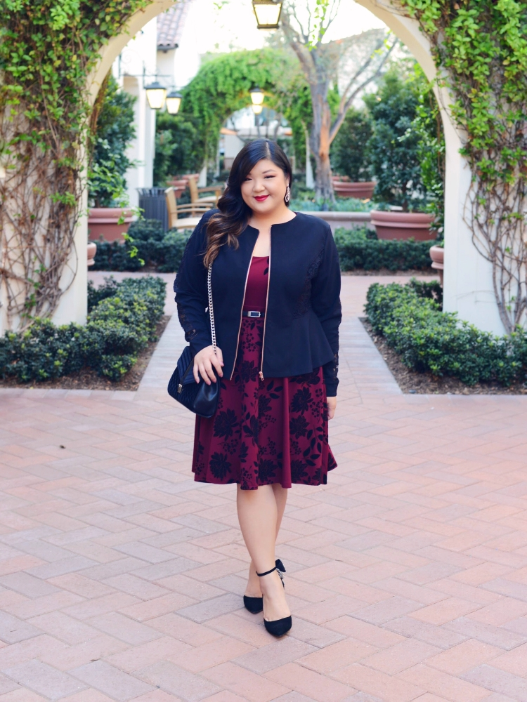 Curvy Girl Chic Plus Size Holiday Outfit Idea Macy's Work Party Inspiration