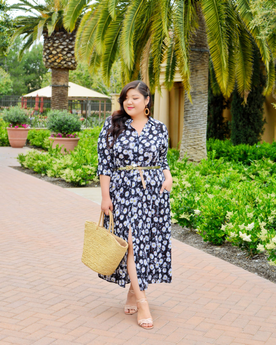 WOMAN WITHIN PLUS SIZE CRINKLE DRESS - Curvy Girl Chic